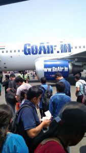 There are 1000s of air travelers in India